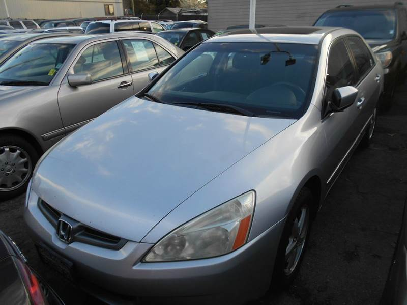 2005 HONDA ACCORD EX 4DR SEDAN silver abs - 4-wheel anti-theft system - alarm cd changer cente