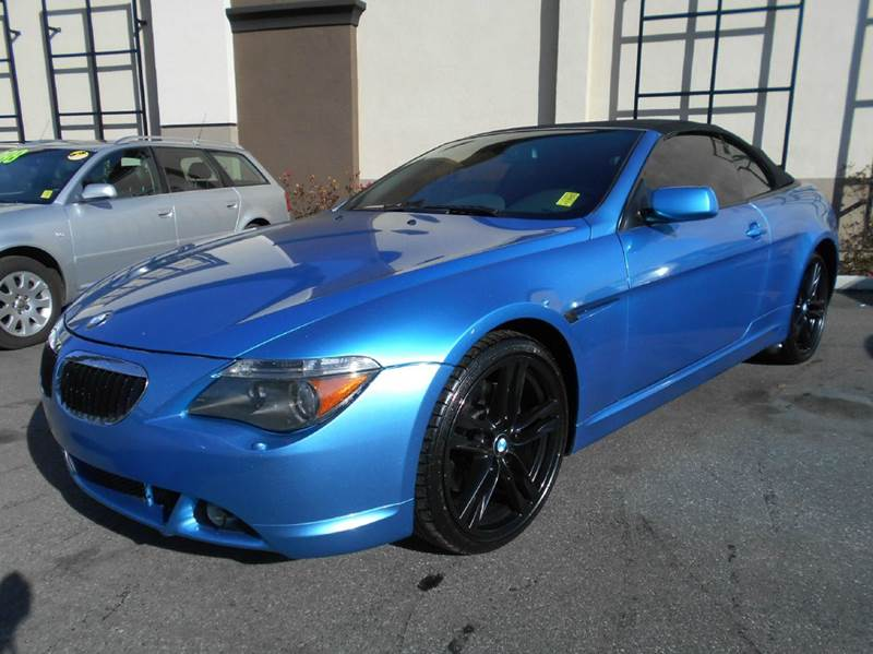 2004 BMW 6 SERIES 645CI 2DR CONVERTIBLE blue abs - 4-wheel anti-theft system - alarm center con