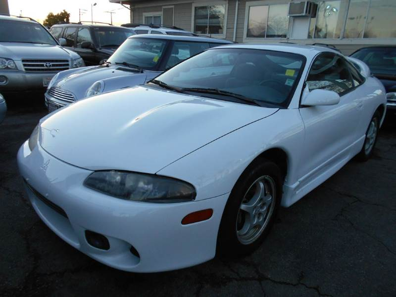 1997 MITSUBISHI ECLIPSE GS-T TURBO 2DR HATCHBACK white antenna type - power cassette center con