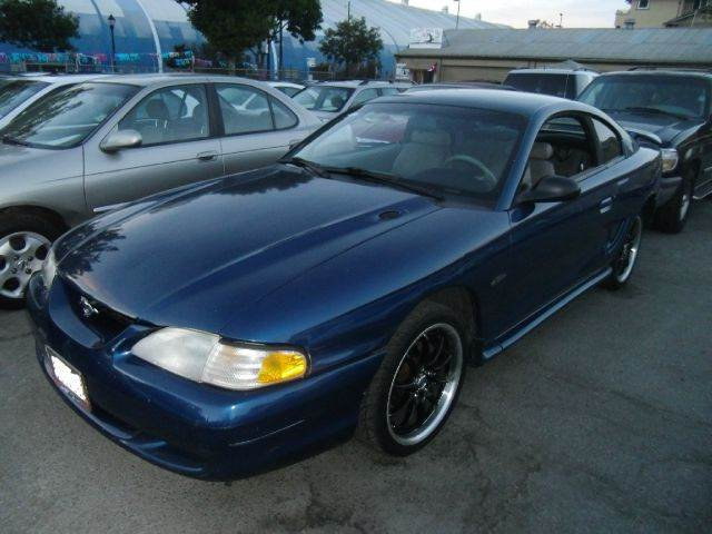 1998 FORD MUSTANG GT 2DR COUPE blue cassette center console driver seat power adjustments exter