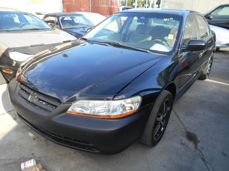 2001 HONDA ACCORD LX 4DR SEDAN black anti-theft system - alarm center console clock cruise con