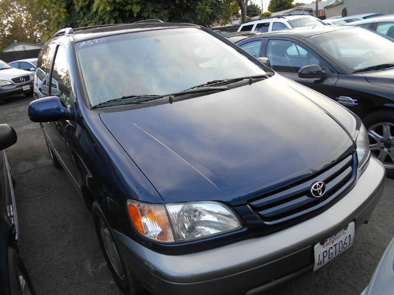 2001 TOYOTA SIENNA XLE 4DR MINI VAN blue abs - 4-wheel anti-theft system - alarm captain chairs