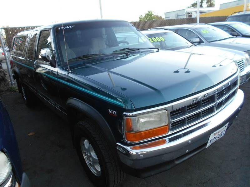1994 DODGE DAKOTA SLT 2DR 4WD EXTENDED CAB SB green abs - rear bumper color - chrome cassette