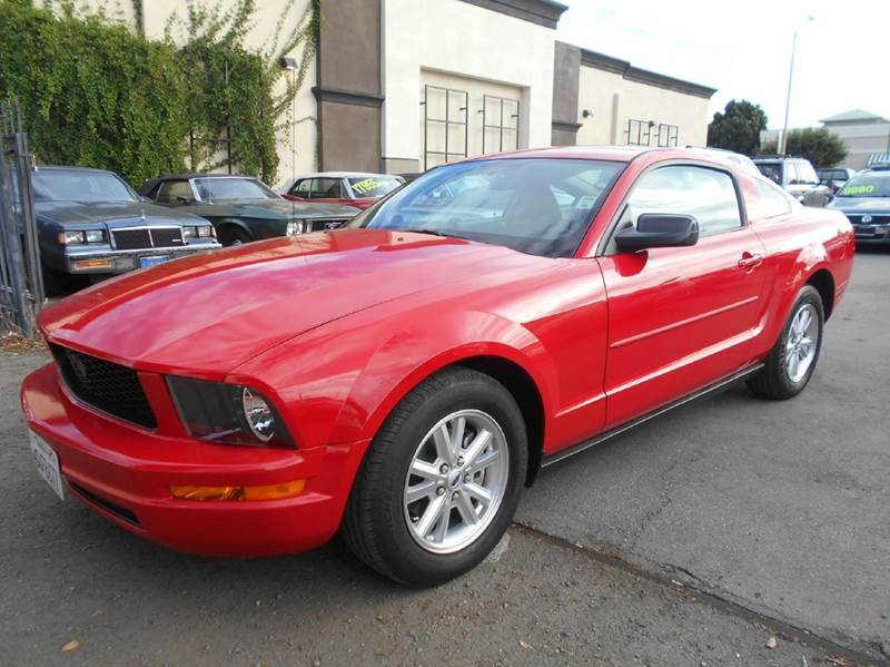 2008 FORD MUSTANG V6 DELUXE 2DR COUPE red airbag deactivation - occupant sensing passenger anten