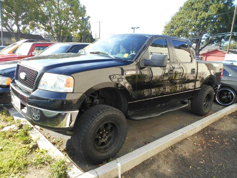 2006 FORD F-150 XLT 4DR SUPERCREW STYLESIDE 55 black abs - 4-wheel airbag deactivation - occupa