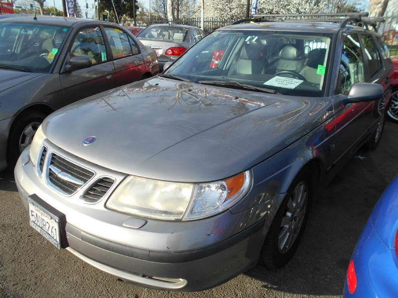 2003 SAAB 9-5 LINEAR 23T 4DR TURBO WAGON gray abs - 4-wheel anti-theft system - alarm cassette