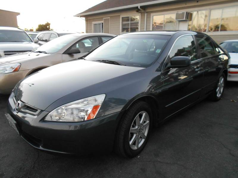 2004 HONDA ACCORD EX V-6 WNAVI 4DR SEDAN WNAVI charcoal abs - 4-wheel anti-theft system - alar