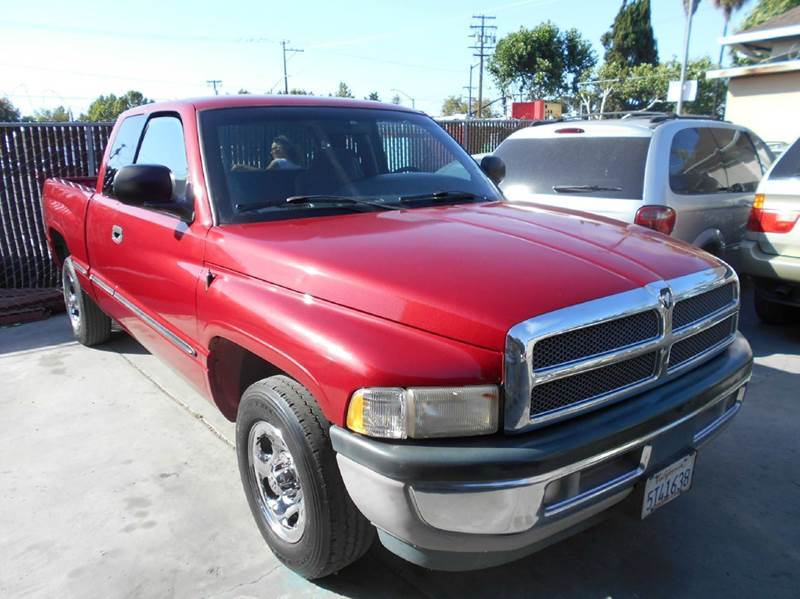 1998 DODGE RAM PICKUP 1500 ST 4DR EXTENDED CAB SB red abs - rear bumper color - chrome cassette
