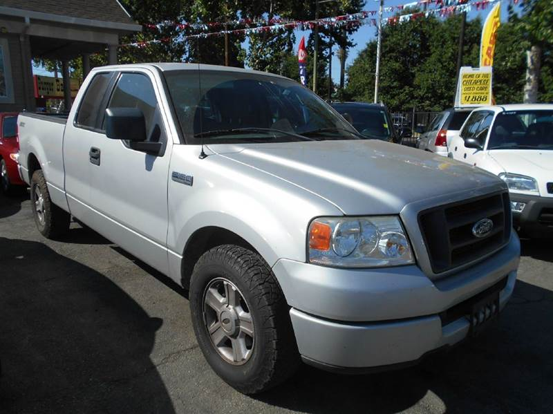 2005 FORD F-150 XLT 4DR SUPERCAB RWD STYLESIDE 5 silver abs - 4-wheel axle ratio - 355 clock