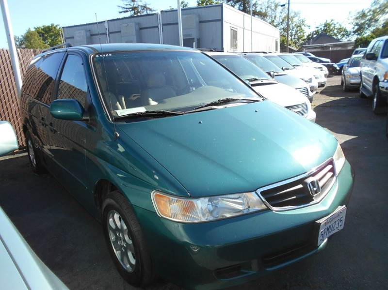 2002 HONDA ODYSSEY EX 4DR MINI VAN green abs - 4-wheel anti-theft system - alarm captain chairs