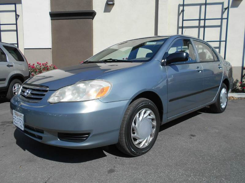 2004 TOYOTA COROLLA CE 4DR SEDAN blue center console clock daytime running lights front air co