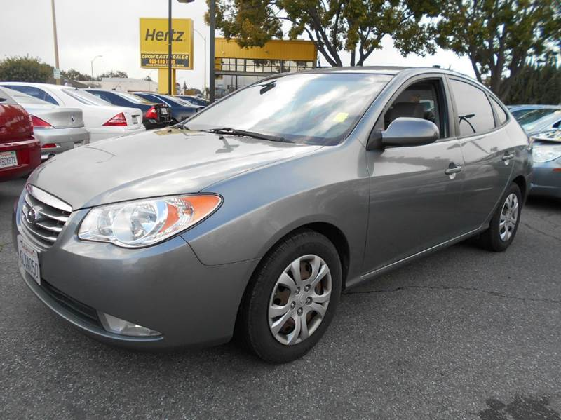 2010 HYUNDAI ELANTRA GLS 4DR SEDAN gray abs - 4-wheel active head restraints - dual front airba