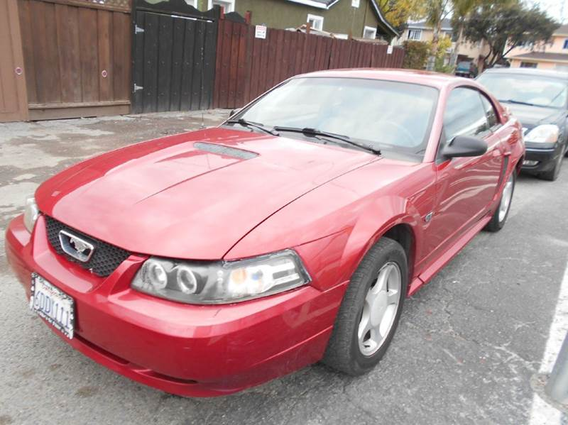 2000 FORD MUSTANG GT 2DR COUPE red abs - 4-wheel cassette center console exterior entry lights