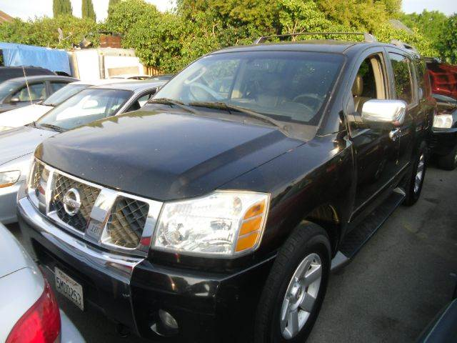 2004 NISSAN ARMADA LE 4WD 4DR SUV black abs - 4-wheel adjustable pedals - power alloy wheels a