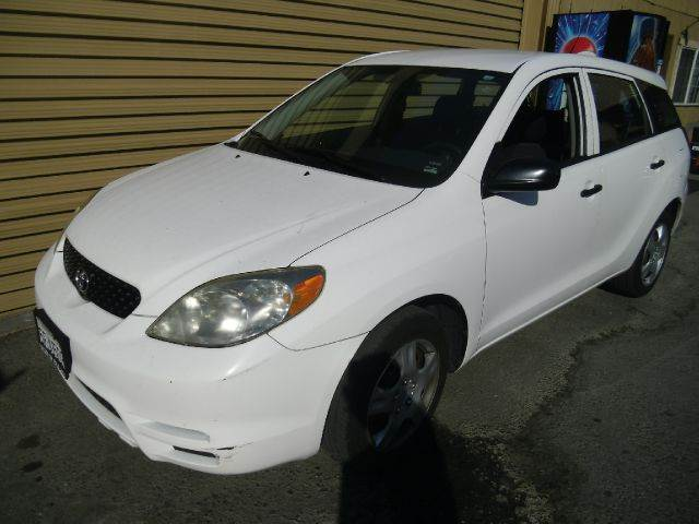 2003 TOYOTA MATRIX FWD 4DR WAGON white center console clock daytime running lights front air co