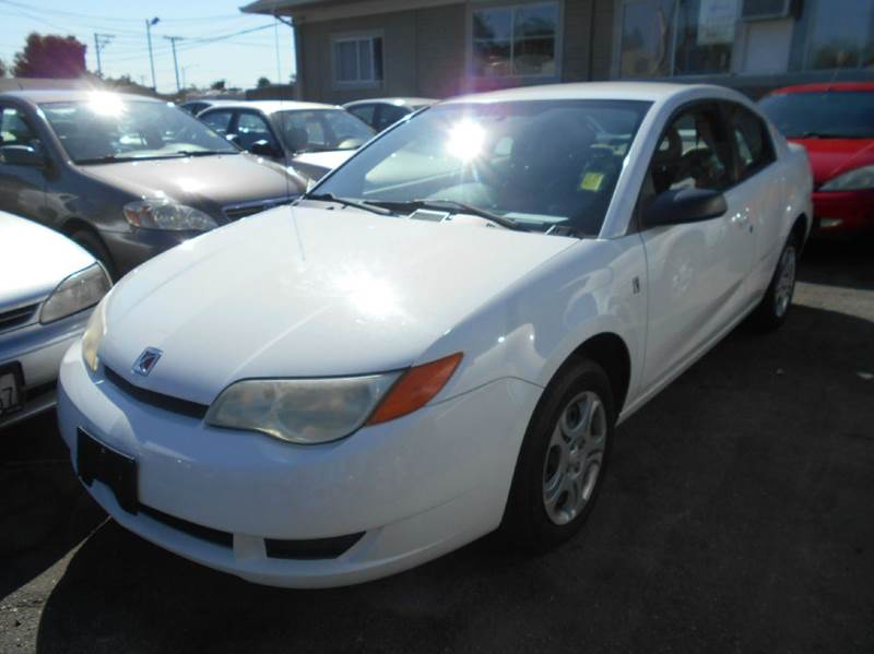 2004 SATURN ION 2 4DR COUPE white center console clock daytime running lights exterior entry l