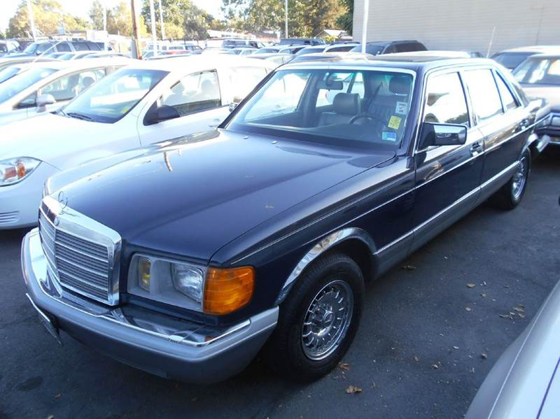 1983 MERCEDES-BENZ 380-CLASS 380SEL 4DR SEDAN blue antenna type - power cassette cruise control