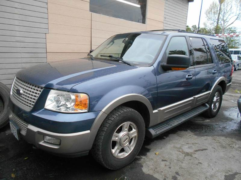 2003 FORD EXPEDITION EDDIE BAUER 4WD 4DR SUV blue abs - 4-wheel adjustable pedals - power anti-