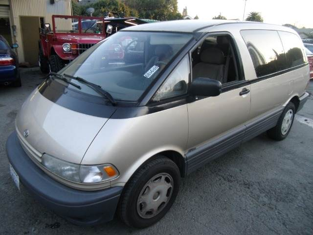1995 TOYOTA PREVIA DX ALL-TRAC AUTO gold 4wdawdanti-brake system non-abs  4-wheel absbody s