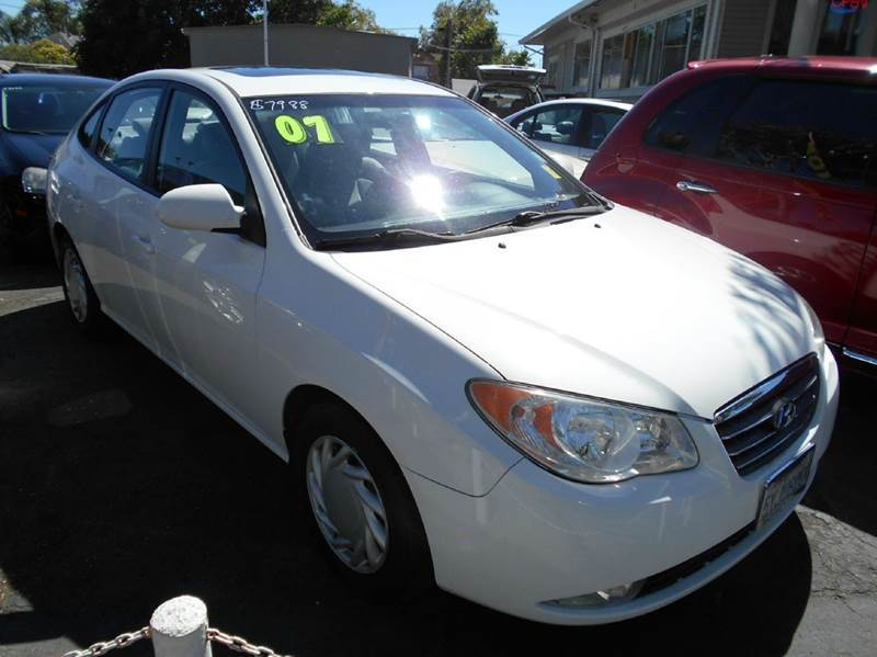 2007 HYUNDAI ELANTRA white air conditioning amfm radio wcd player cruise control driver and