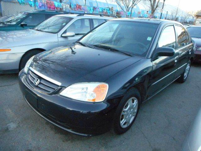 2002 HONDA CIVIC LX 4DR SEDAN black anti-theft system - alarm cassette clock cruise control e