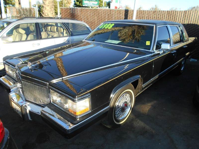 1991 CADILLAC BROUGHAM BASE 4DR SEDAN black abs - 4-wheel air suspension - rear antenna type -