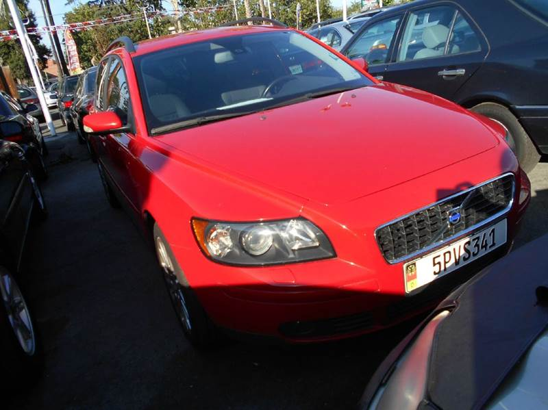 2005 VOLVO V50 24I 4DR SPORT WAGON red abs - 4-wheel alloy wheels anti-theft system - alarm c