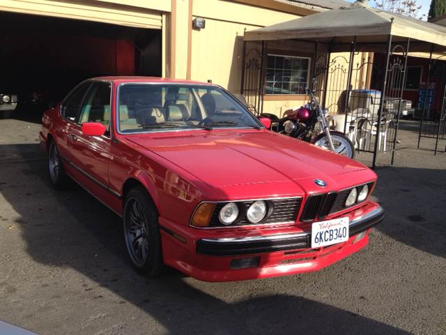 1988 BMW 6 SERIES 635 CSI red 190067 miles VIN WBAEC841XJ3267514