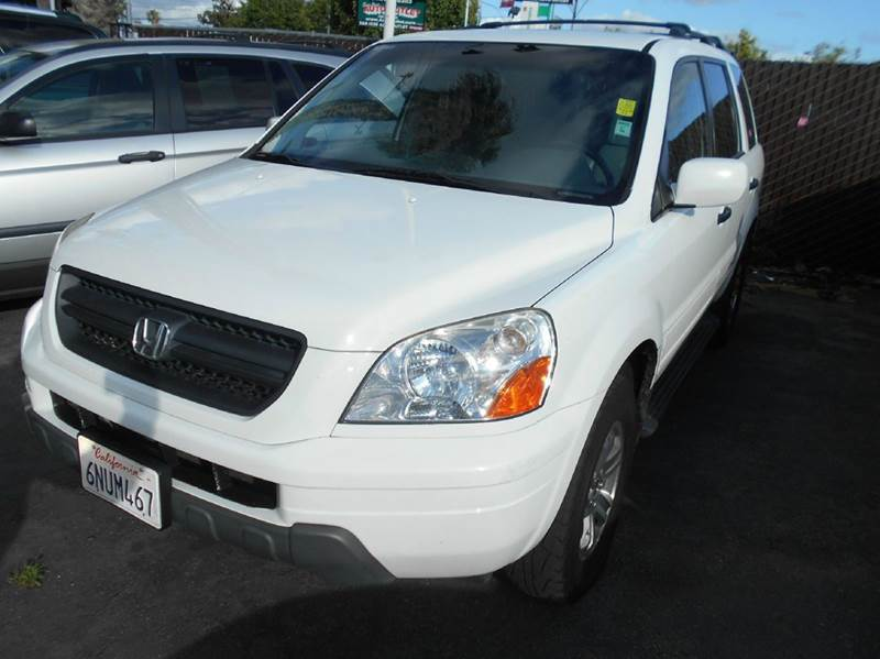 2003 HONDA PILOT EX-L 4DR 4WD SUV W LEATHER white 4wd type - on demand abs - 4-wheel anti-thef