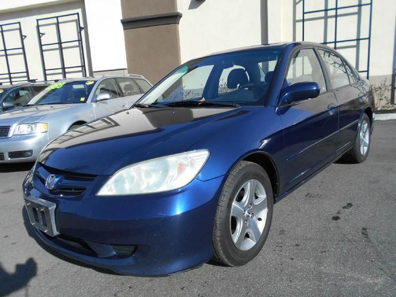2004 HONDA CIVIC EX 4DR SEDAN blue abs - 4-wheel center console clock cruise control exterior