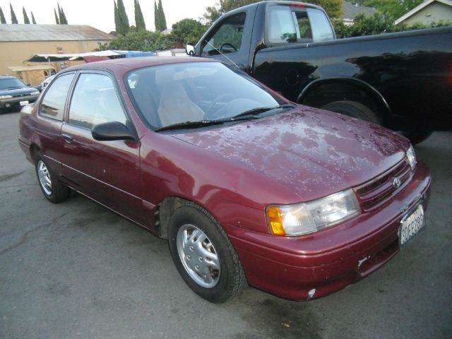 1993 TOYOTA TERCEL DX 2DR COUPE maroon front airbags - driver side front seat type - bucket pow
