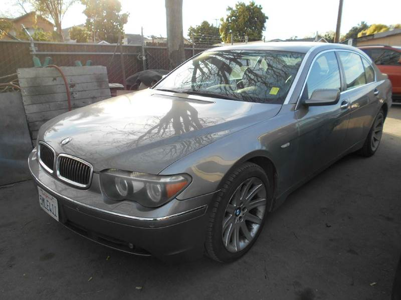 2005 BMW 7 SERIES 745LI 4DR SEDAN gray abs - 4-wheel anti-theft system - alarm center console -