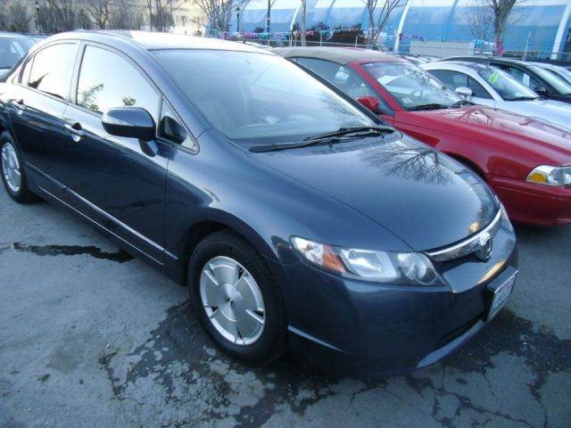 2008 HONDA CIVIC HYBRID WNAVI SEDAN blue 2-stage unlocking - remote abs - 4-wheel air filtrati