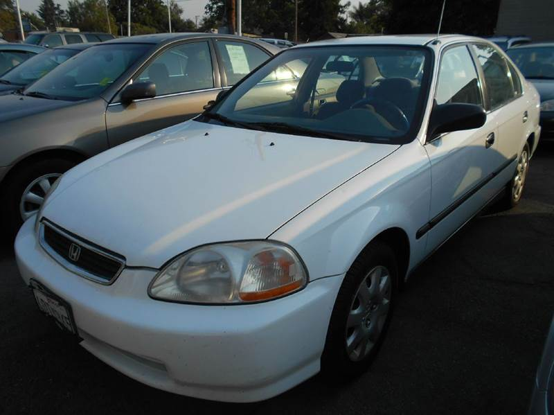 1998 HONDA CIVIC LX 4DR SEDAN white center console cruise control front air conditioning front