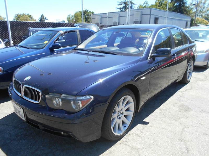 2003 BMW 7 SERIES 745I 4DR SEDAN blue abs - 4-wheel anti-theft system - alarm center console c