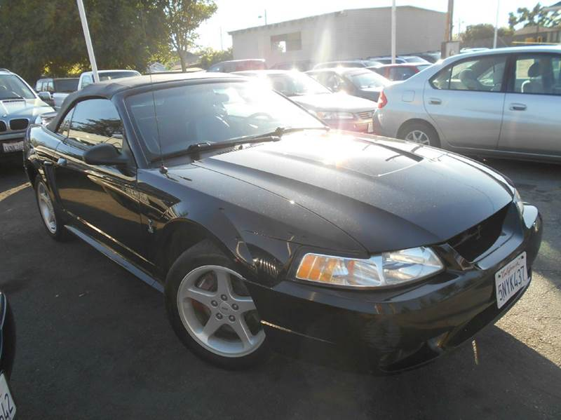 1999 FORD MUSTANG SVT COBRA BASE 2DR CONVERTIBLE black abs - 4-wheel anti-theft system - alarm