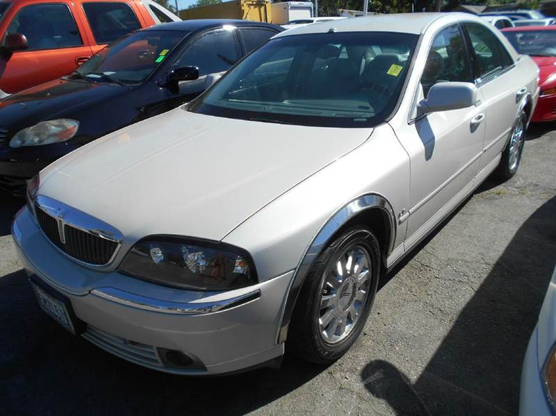 2005 LINCOLN LS LUXURY 4DR SEDAN V6 white abs - 4-wheel anti-theft system - alarm cassette cen