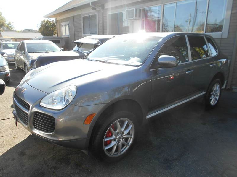 2005 PORSCHE CAYENNE TURBO AWD 4DR SUV gray abs - 4-wheel active suspension air suspension ant