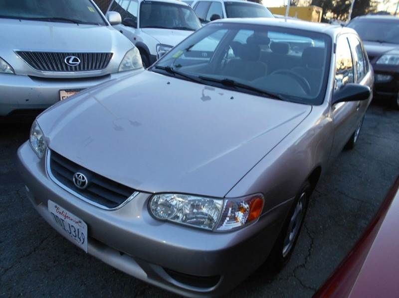 2001 TOYOTA COROLLA CE 4DR SEDAN gold center console daytime running lights front airbags - dua