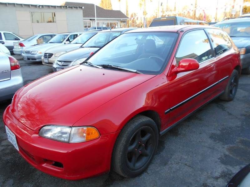 1995 HONDA CIVIC SI 2DR HATCHBACK red cruise control front airbags - dual front seat type - buc