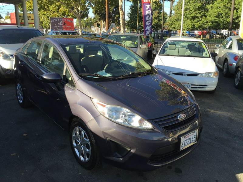 2012 FORD FIESTA S 4DR SEDAN charcoal abs - 4-wheel airbag deactivation - occupant sensing passe
