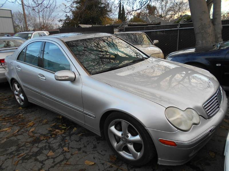 2004 MERCEDES-BENZ C-CLASS C230 KOMPRESSOR 4DR SEDAN silver abs - 4-wheel anti-theft system - al