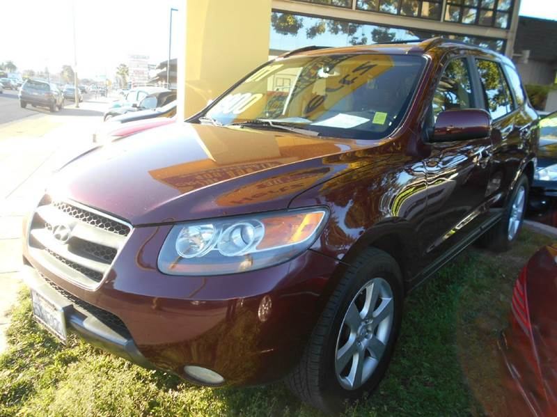 2007 HYUNDAI SANTA FE SE 4DR SUV maroon 2-stage unlocking doors abs - 4-wheel active head restr