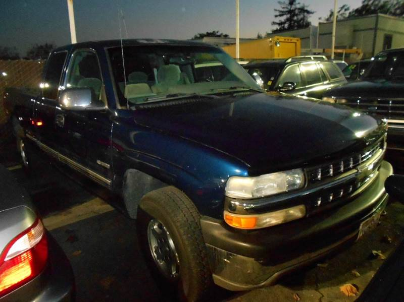 2000 CHEVROLET SILVERADO 1500 LS 3DR 4WD EXTENDED CAB SB blue abs - 4-wheel anti-theft system -