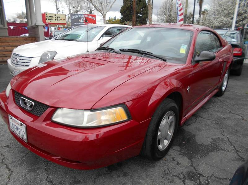 2000 FORD MUSTANG BASE 2DR COUPE red cassette center console exterior entry lights front air c