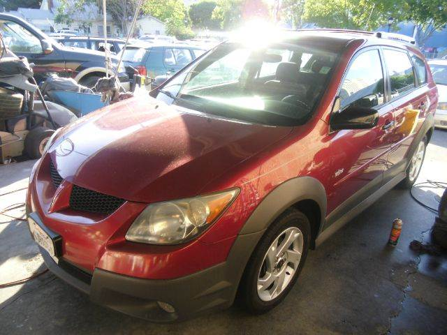 2004 PONTIAC VIBE FWD 4DR WAGON red center console clock daytime running lights exterior entry
