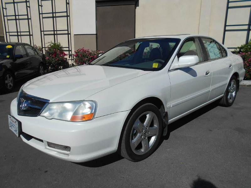 2002 ACURA TL 32 TYPE-S 4DR SEDAN white abs - 4-wheel anti-theft system - alarm cassette cent
