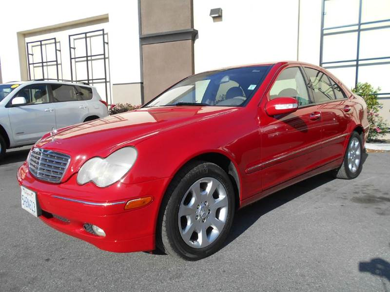 2004 MERCEDES-BENZ C-CLASS C240 4DR SEDAN red abs - 4-wheel anti-theft system - alarm cassette