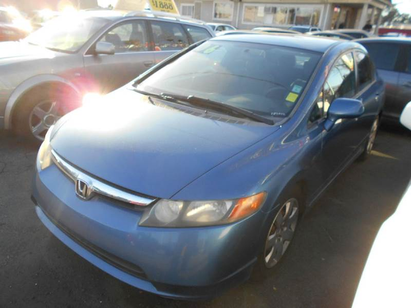 2006 HONDA CIVIC LX 4DR SEDAN WAUTOMATIC blue abs - 4-wheel active head restraints - dual front