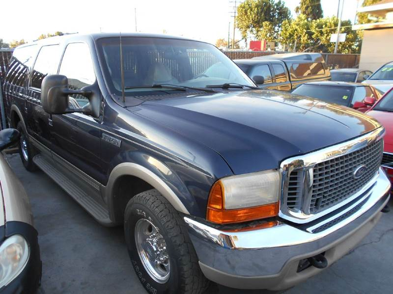 2000 FORD EXCURSION LIMITED 4DR SUV blue abs - 4-wheel axle ratio - 373 captain chairs - 2 ca